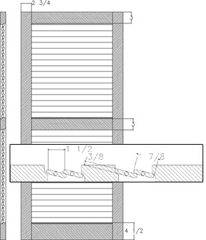 Louver 1 7/8 Operable
