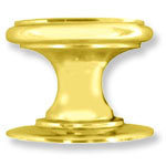 Margate Solid Brass Knob; Knobs are offered in Polished Brass, Polished Chrome, Polished Nickle, Satin Brown, and Satin Black finishes.