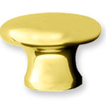 Ridgewood Solid Brass Knob; Knobs are offered in Polished Brass, Polished Chrome, Polished Nickle, Satin Brown, and Satin Black finishes.