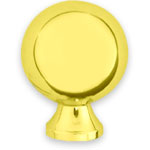 Lexington Solid Brass Knob; Knobs are offered in Polished Brass, Polished Chrome, Polished Nickle, Satin Brown, and Satin Black finishes.