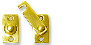 Bar Type Latch; Latches are offered in Polished Brass, Oil Rubbed Brass, and Satin Nickle finishes