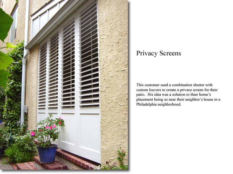 Custom Combination privacy screen