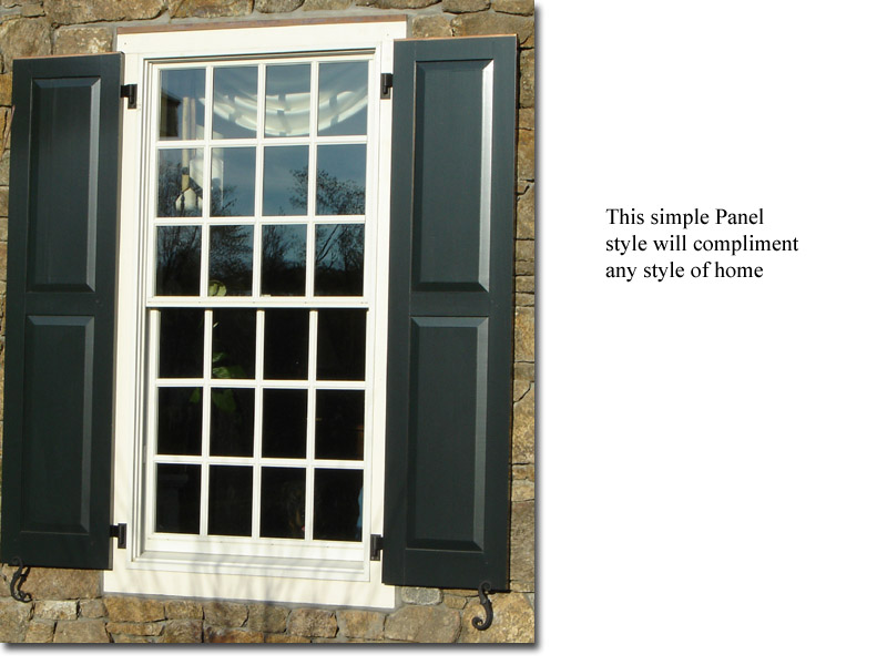 Single Raised Panel window view