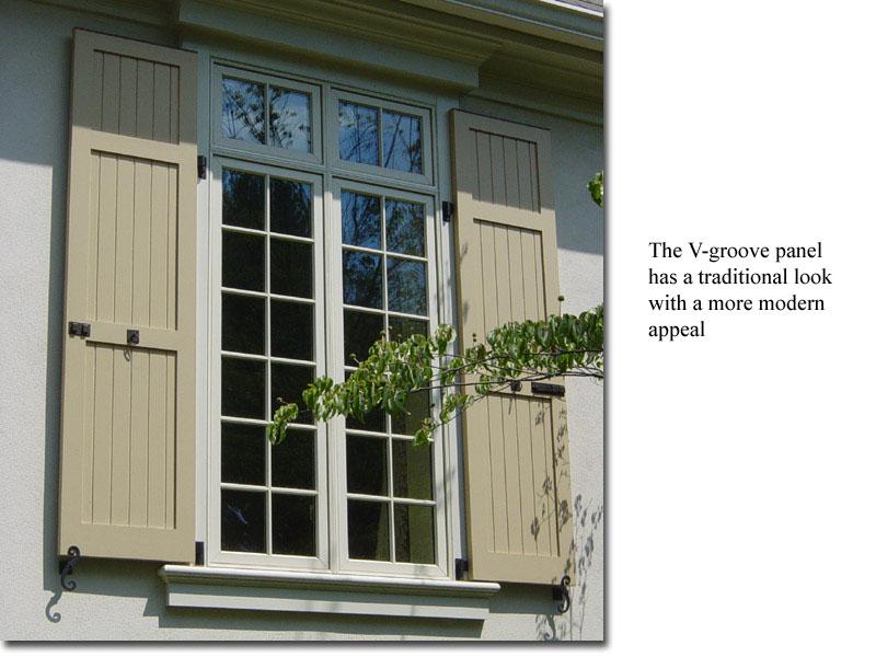 Vee Groove window view