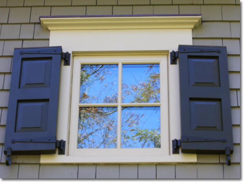 Double raised window view