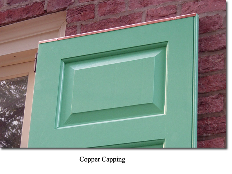 Single Raised Panel with 3/8 in. trim with copper capping