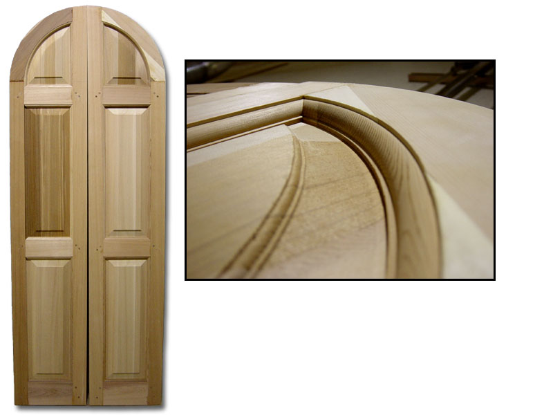 Single Raised Panel with 3/8 in. trim arch detail