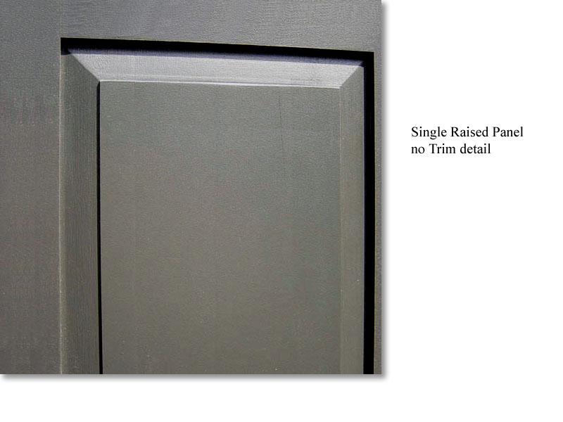 Single Raised Panel detail
