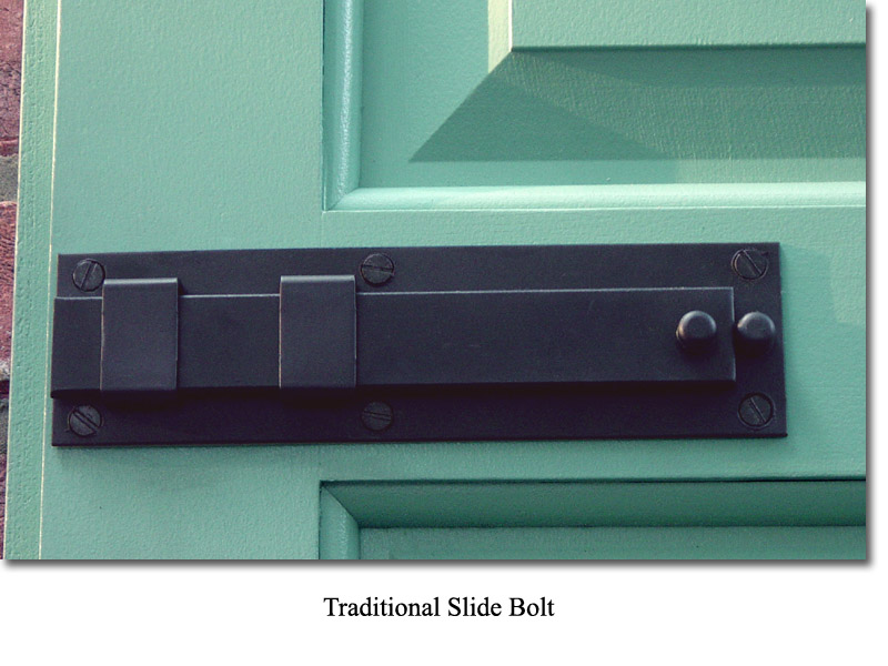 Single Raised Panel with 3/8 in. trim and Slide Bolt