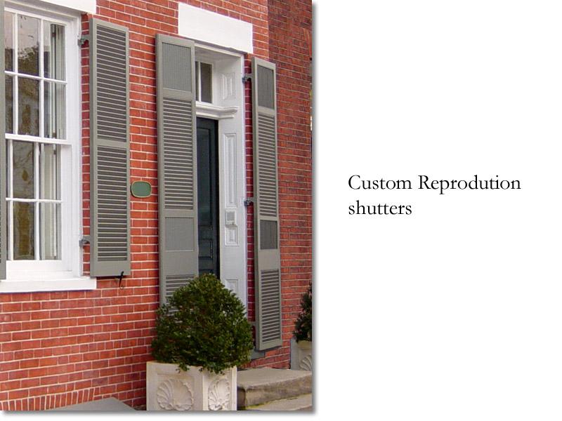 Custom reproduction shutters